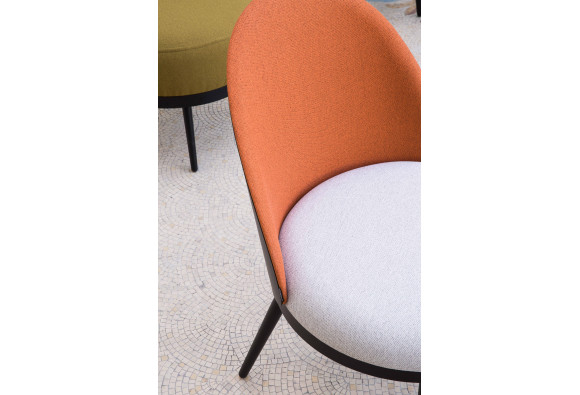 Chaise Lili Bi-colore Lin/Corail - Résistub Productions