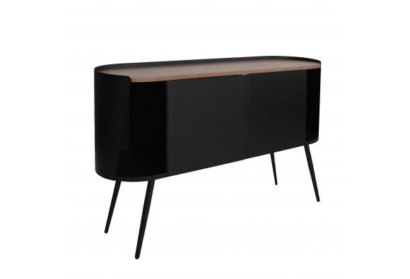 Armand Cabinet 80 Walnut wood - Résistub Productions