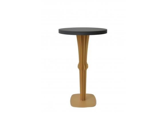 Table haute de Bar mange debout métal Facette