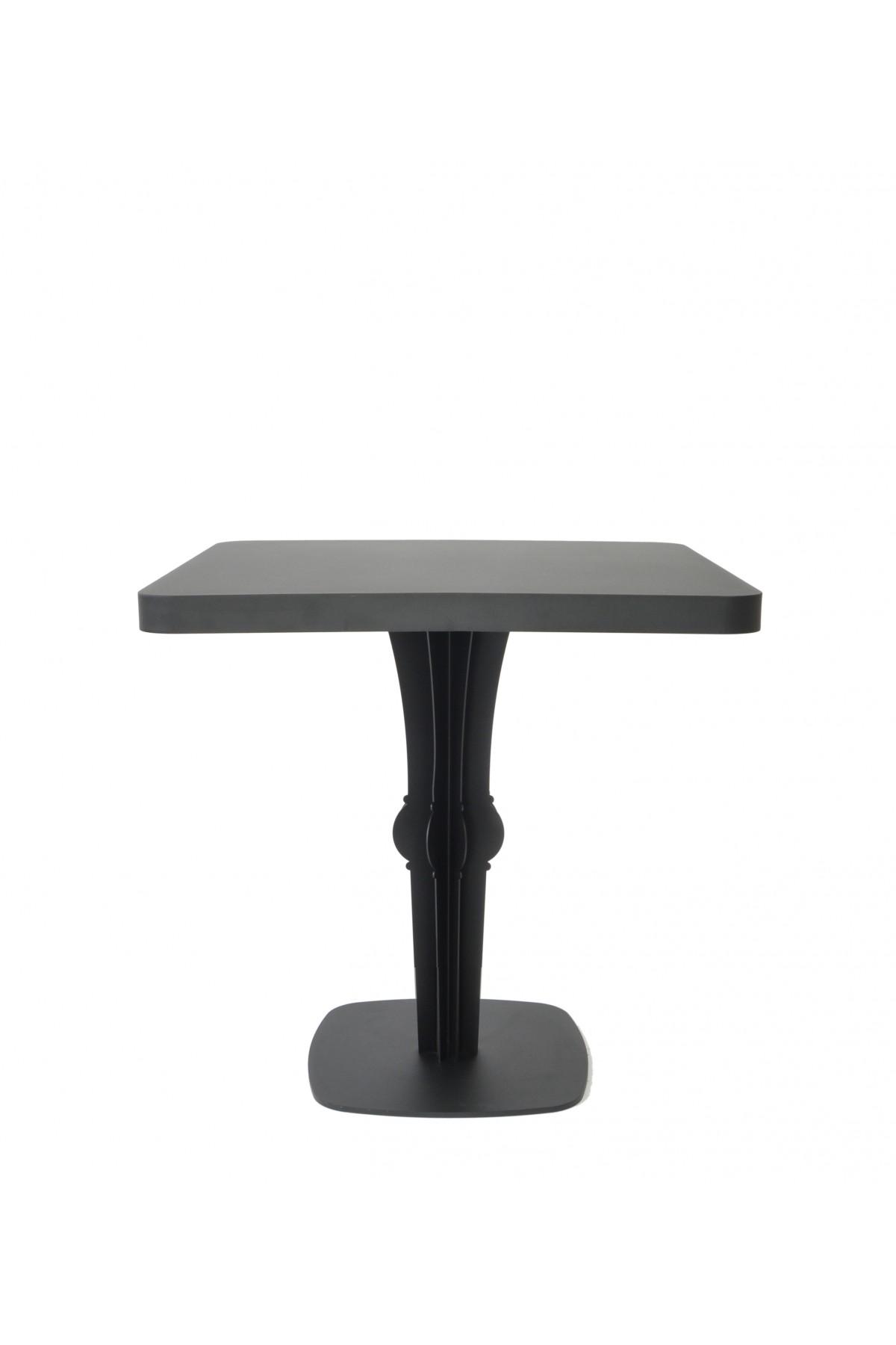Table repas lounge carré ronde métal