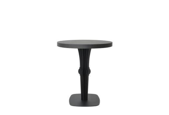 Round square table metal steel