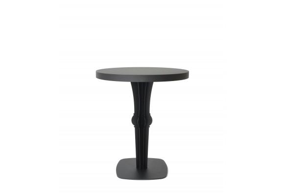 Table repas carré ronde métal