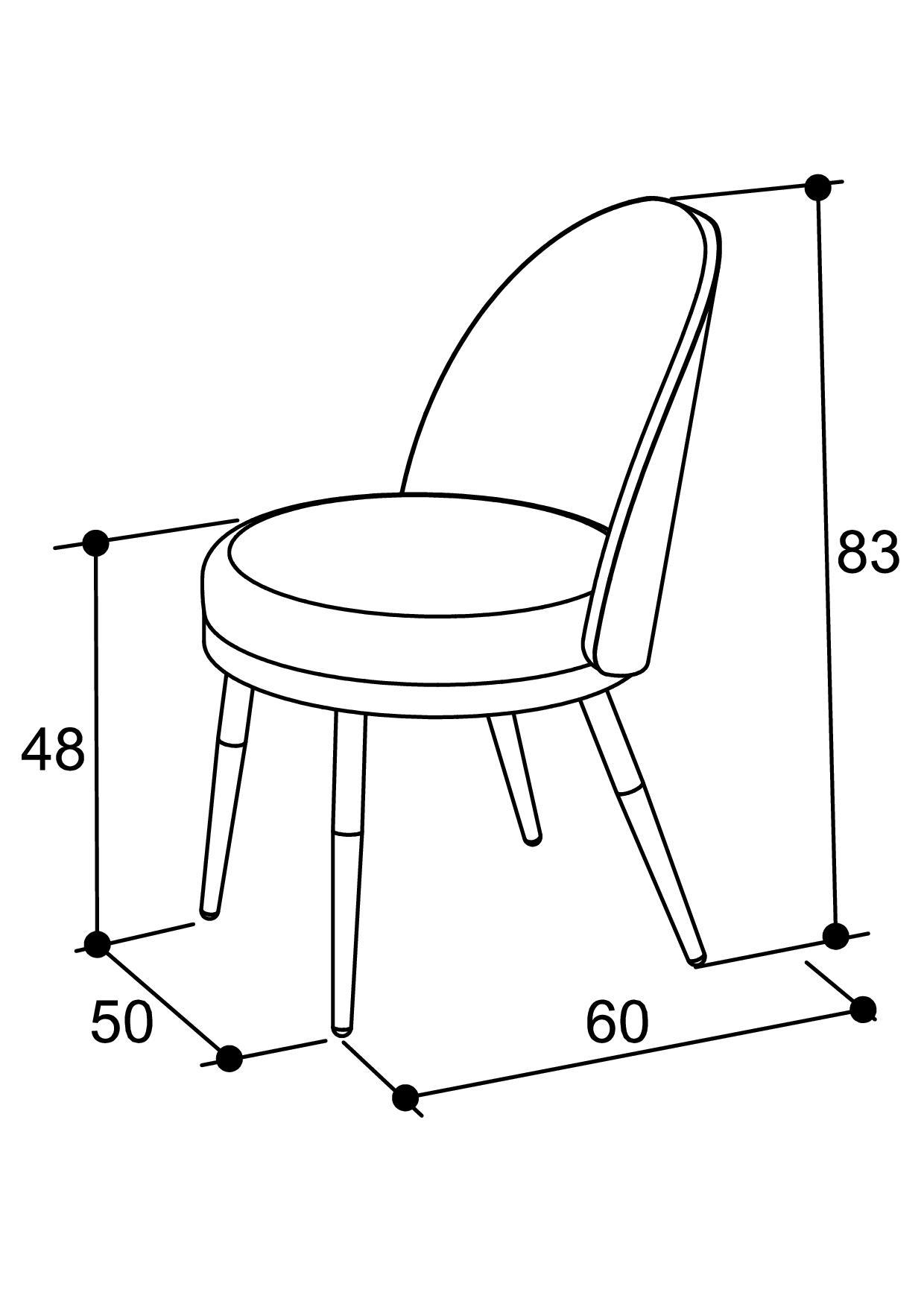 chaise métal lili